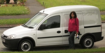 Debbie and her new van